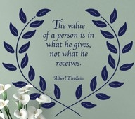 The value of a person...