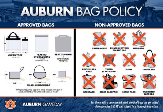Auburn Bag Policy