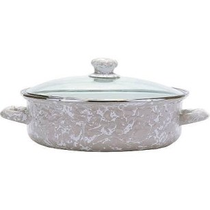 Golden Rabbit Taupe Swirl Saute Pan ($46)