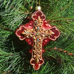 large-Red-cross-christmas-ornament-wrapsody