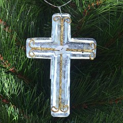 large-Silver-Cross-Christmas-ornament-wrapsody